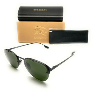 Burberry BE 3103 128771 Green Rubber Men's Authentic Sunglasses 54-18
