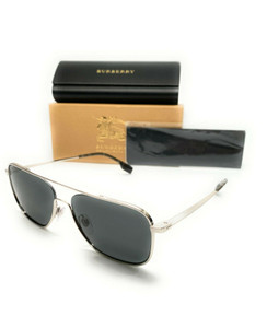 Burberry BE 3112 100587 Silver Men's Authentic Sunglasses 59-16