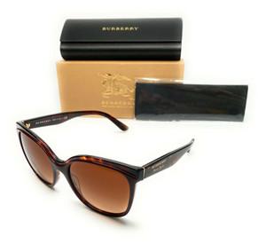 Burberry BE 4270 3730/13 Bordeaux / Havana Women's Authentic Sunglasses 55-18