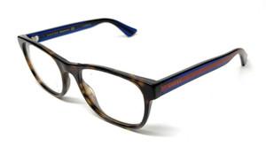 GUCCI GG0004O 003 Havana Unisex Authentic Eyeglasses Frame 53 mm