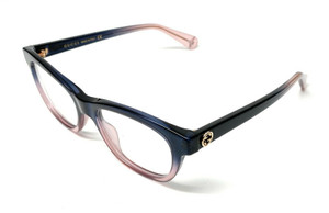 GUCCI GG0372O 004 Blue Demo Lens Women's Authentic Eyeglasses Frame 51mm
