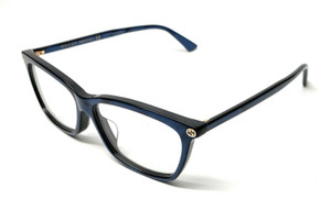 Gucci GG 0042-OA 004 Blue Women's Authentic Eyeglasses Frame 55-13-A6