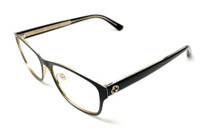 New Gucci GG 0304-O 001 Black Women's Authentic Eyeglasses Frame 53-16-A6