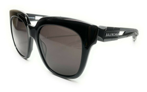 Balenciaga BB0025S 001 Black Unisex Authentic Acetate Sunglasses 54-19
