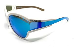 Balenciaga BB0038S 002 White Unisex Authentic Sunglasses 63-15
