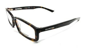 Balenciaga BB0008O 003 Havana Unisex Authentic Eyeglasses Frame 57 mm