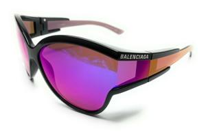 Balenciaga BB0038S 003 Black Unisex Authentic Sunglasses 63-15
