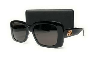 BALENCIAGA BB0048S 001 Black Grey Rectangle Women's Sunglasses 52 mm