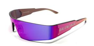 Balenciaga BB0041S 003 Violet Women's Authentic Sunglasses 99-1