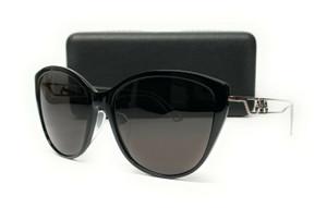BALENCIAGA BB0057SK 001 Black Grey Women's Sunglasses 55 mm