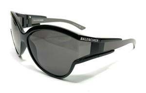 Balenciaga BB0038S 001 Black Women's Authentic Sunglasses 63-15
