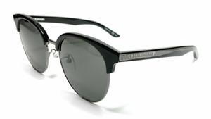 BALENCIAGA BB0020SK 003 Black Silver Mirror Unisex Sunglasses 55 mm