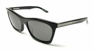 BALENCIAGA BB0006S 001 Black Grey Men's Sunglasses 54 mm