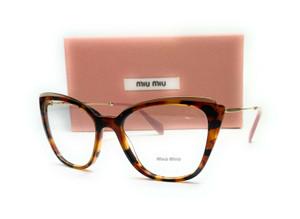 MIU MIU VMU 02Q VX8-1O1 Havana Demo Lens Women's Eyeglasses 53mm