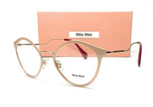 MIU MIU VMU 52Q 4UD-1O1 Pink Glitter Demo Lens Women's Eyeglasses 52 mm