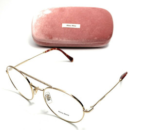 Miu Miu VMU 51R ZVN-1O1 Gold Women's Authentic Eyeglasses Frame 52-20