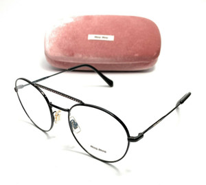 Miu Miu VMU 51R 162-1O1 Black Women's Authentic Eyeglasses Frame 52-20
