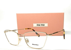 MIU MIU VMU 52S ZVN-1O1 Pale Gold Demo Lens Eyeglasses 52 mm