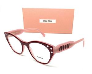 Miu Miu VMU 02R 104-1O1 Burgundy Pink Women Demo Lens Eyeglasses Frame 50-18