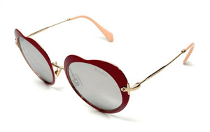 New Miu Miu SMU 54R USS-2B0 Red Women Authentic Sunglasses 52-20-A8
