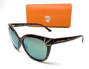 Tory Burch TY9051 13786R Dark Tortoise Women's Cat Eye Sunglasses 56-17