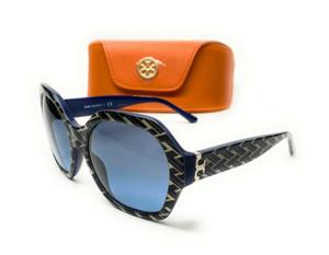 Tory Burch TY7120 17498F Blue Irregular Women's Sunglasses 57 mm