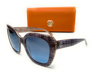 Tory Burch TY7127 17398F Navy Crystal Square Women's Sunglasses 56 mm