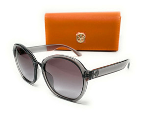 Tory Burch TY9056U 177811 Transparent Grey Women's Round Sunglasses 56-16
