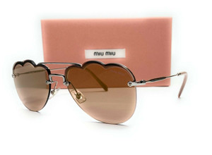 MIU MIU SMU 56U 1BC-176 LT Brown Mirror Flash Gold Women's Sunglasses 58mm