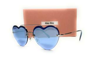 MIU MIU SMU 62U 1BC-178 Silver Drk Violet Mir Silver Women's Sunglasses 58mm