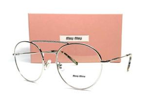 MIU MIU VMU 51R 1BC-1O1 Silver Demo Lens Women's Eyeglasses 52mm