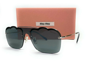 MIU MIU SMU 55U 1BC-175 Dark Grey Flash Silver Women's Sunglasses 33mm
