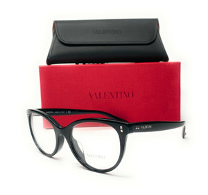 Valentino VA3009 5001 Black Demo Lens Women's Eyeglasses 52mm