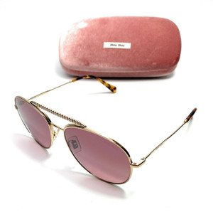 Miu Miu SMU 53V ZVN-TEG Gold Women's Authentic Sunglasses 57 mm