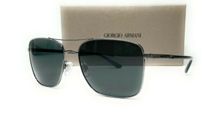 GIORGIO ARMANI AR6065 301071 Gunmetal Green Unisex Sunglasses 58mm