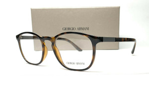 GIORGIO ARMANI AR7167 5026 Dark Havana Demo Lens Men's Eyeglasses 52mm