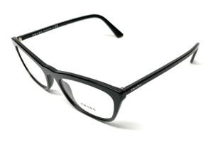 New Prada VPR 10V 1AB-1O1 Black Women's Authentic Eyeglasses Frame 52-18