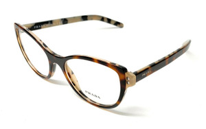 New Prada VPR 12V TH8-1O1 Havana Women's Authentic Eyeglasses Frame 52-18