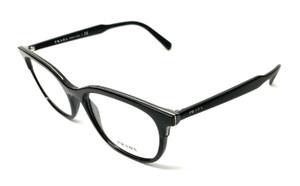 New Prada VPR 05V 264-1O1 Black Men's Authentic Eyeglasses Frame 55-19