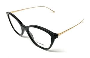 New Prada VPR 11V 1AB-1O1 Black Women's Authentic Eyeglasses Frame 53-17