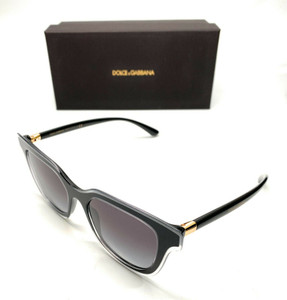 Dolce & Gabbana DG4362 5383/8G Black Women Authentic Sunglasses 51 mm