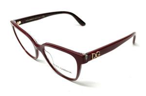 New Dolce & Gabbana DG 3321 3233 Burgundy Women Authentic Eyeglasses Frame 52-17