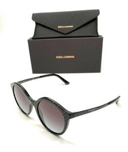 Dolce & Gabbana DG4358 3126/8G Black Women Authentic Sunglasses 50 mm