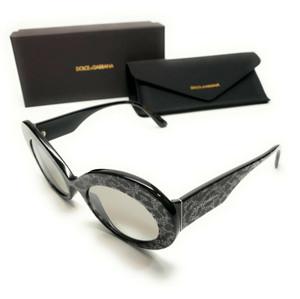 Dolce & Gabbana DG4345 31986V Glitter Black Women Authentic Sunglasses 55 mm