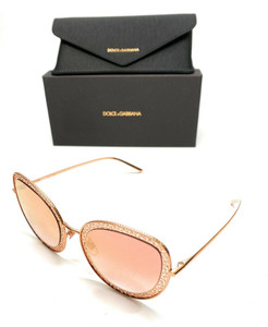 Dolce & Gabbana DG 2226 1298/6F Pink Gold Women Authentic Sunglasses 54-24