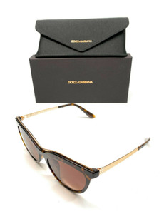 Dolce & Gabbana DG4335F 502/13 Havana Women Authentic Sunglasses 54 mm