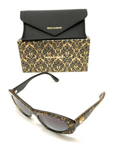 Dolce & Gabbana DG4360 3214/8G Black Women Authentic Sunglasses 53 mm