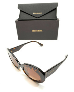 Dolce & Gabbana DG 4345-F 502/13 Havana Women Authentic Sunglasses 55 mm