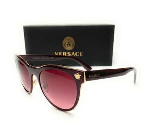 VERSACE VE2198 12528H Burgundy Pink Gradient Lens Women's Sunglasses 54mm
