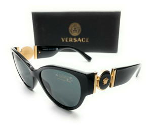 Versace VE4368A GB1 87 Black Women's Cat Eye Sunglasses 56 mm